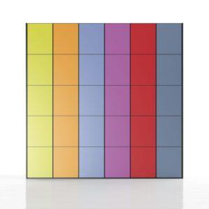 Armario de colores combinados 1