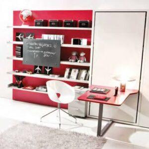 Cama abatible vertical con escritorio 1