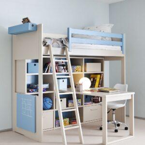 Cama litera con escritorio 1