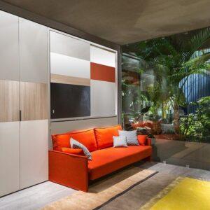 Cama abatible con armario y sofá Kali Ponte 1