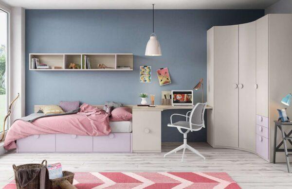 dormitorio con cama nido 3 cajones