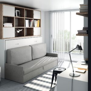 Cama abatible horizontal con sofá 1