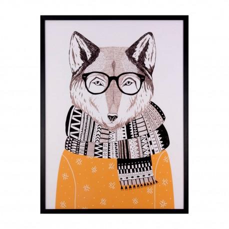 cuadro-fox-negro-60x80