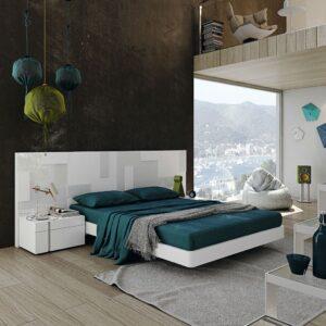 Dormitorio de matrimonio blanco pixel 1
