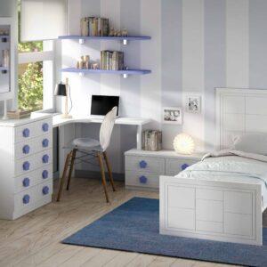 Dormitorio infantíl con cama individual 1
