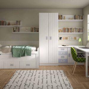 Dormitorio infantíl con cama compacta 1