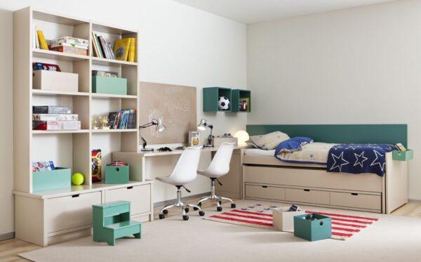 Habitación juvenil para gemelos