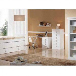 Dormitorio infantíl clásico blanco
