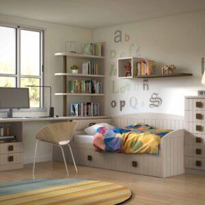 Dormitorio juvenil beige 1