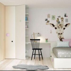Dormitorio juvenil con armario de rincón