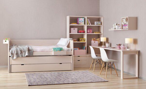 Habitación juvenil romántica