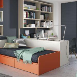 Dormitorio juvenil con zona de estudio 1