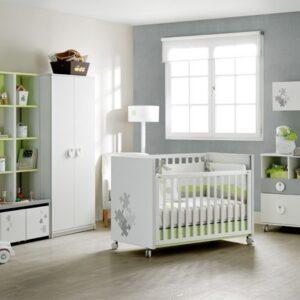 Habitación bebes tonos grises 1