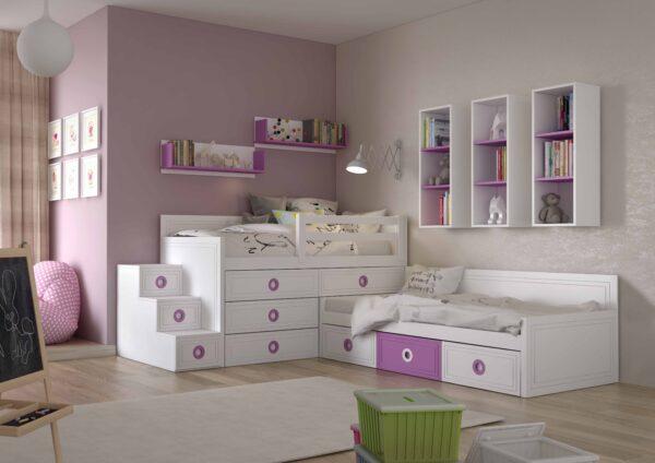 Dormitorio infantíl lila
