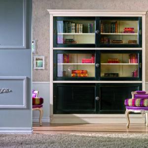 Librería con puertas correderas vintage 1
