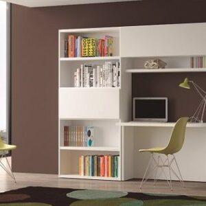 Librería de salón con mesa estudio 1