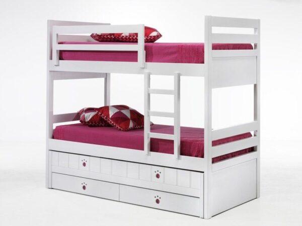 Litera con cama compacta