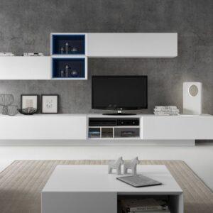 mueble  salón lacado blanco