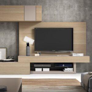 Mueble con panel para tv