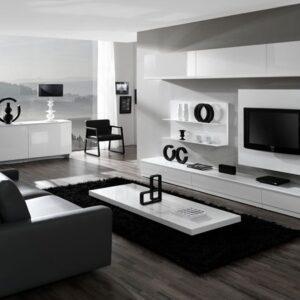 Mueble de salón de diseño blanco 1