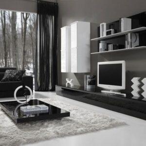 Mueble de salón blanco y negro 1