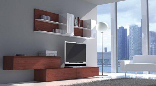 Muebles para salón estrecho y largo